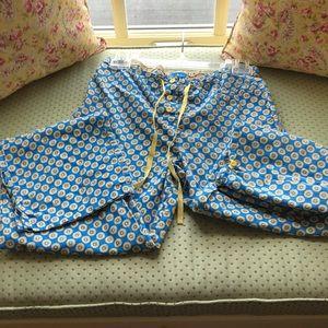 Vera Bradley Intimates & Sleepwear - Vera Bradley Riviera Blue Drawstring PJ Bottoms S